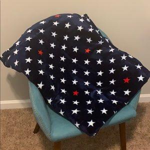 Tommy Hilfiger Blue patriotic large throw blanket